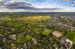 Idyllic rural, aerial view, Cheltenham UK