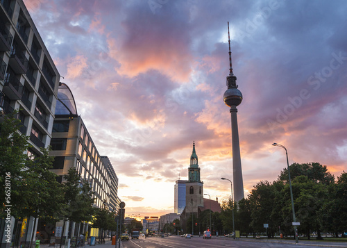 Fernsehturm television tower, Berlin, Germany