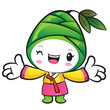 Bamboo shoot Character the left hand best gesture and the right