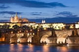 Fototapety St Vitus Cathedral, Prague Castle and Charles Bridge
