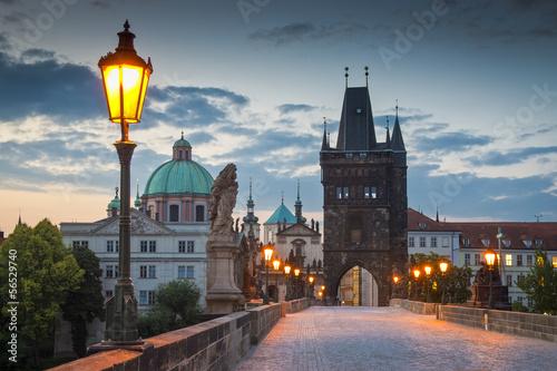 Staande foto Praag Charles Bridge, Prague