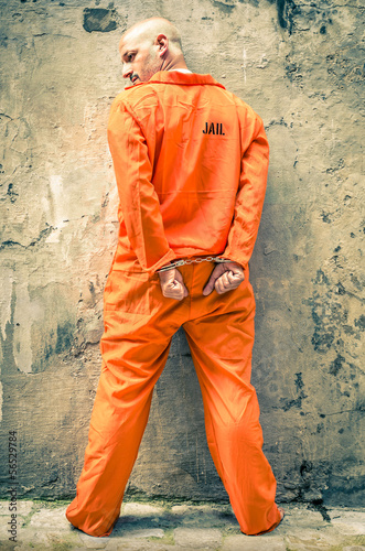 Dead Man Walking - Prisoner with Handcuffs standing proud