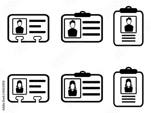 id card icons