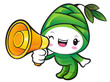 Bamboo shoot Character the Left hand is holding a loudspeaker. N
