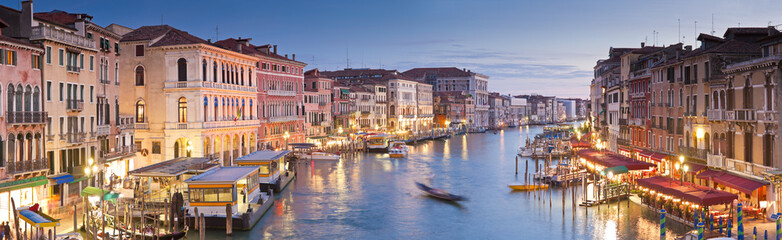 Grand Canal, Villas and Gondolas, Venice