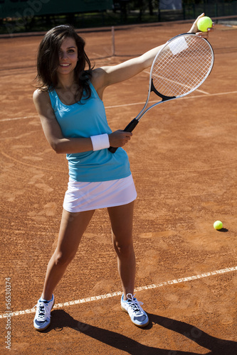 poster of Woman playing tennis in summer