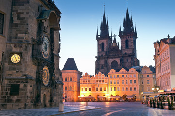 Old Town Hall, Church of our Lady Tyn, Prague