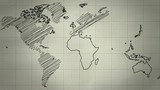 World Map Drawing Background