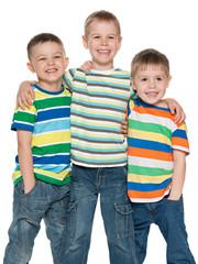 Three fashion cute boys together