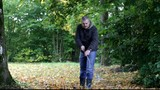 Man collects leaves in the fall episode 3