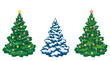 Christmas trees set - 56534575