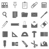 Stationary icons on white background