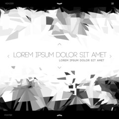 Polygonal design, abstract web template