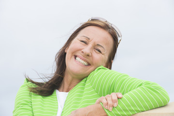 Happy relaxed smiling woman
