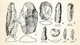 Flint implements from Ahrensburg, Germany poster