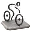 Illustration of black cyclist