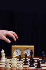 gioco degli scacchi con orologio