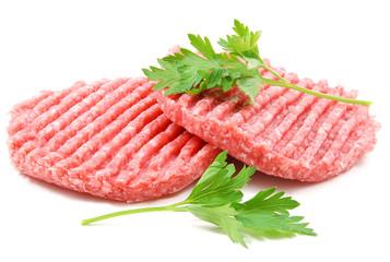 Due hamburger con prezzemolo