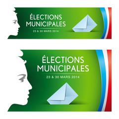 Elections municipales 2014. Vecteur cmjn