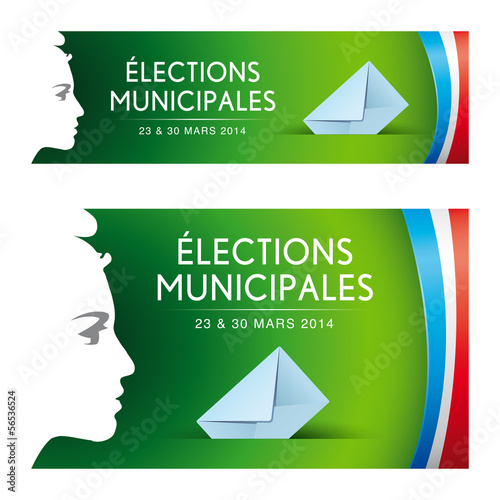 Elections municipales 2014. Vecteur cmjn