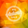 Autumn Sale poster polygonal background
