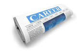 Newspaper with career