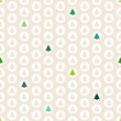 Seamless Pattern Christmas Trees Balls Beige/Green