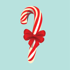 Candy cane isolated, vector illustration