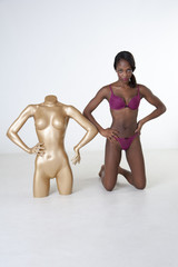 Real life model with anotomical dummy
