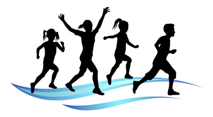 Kinder beim Laufen - 2