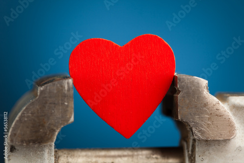red heart in the vice tool