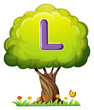 A tree with a letter L