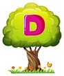 A tree with a letter D