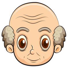 A bald old man