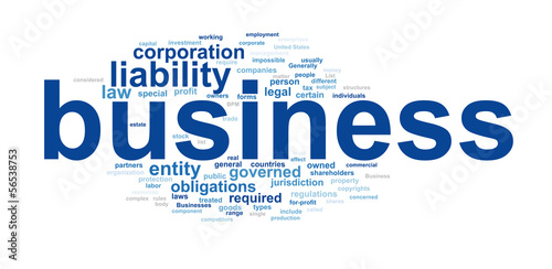 Business text cloud