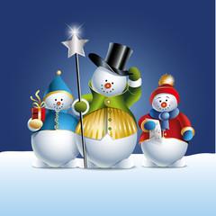 Schneemänner als Weihnachtsmotiv