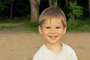 Portrait of cute smiling kid