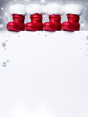 Voucher for christmas with Santa Claus boots