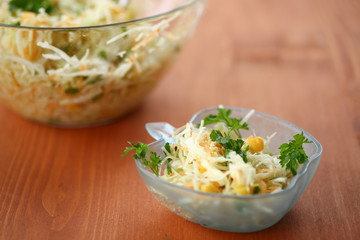 salad with fresh cabbage