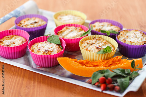 cheese muffins with pumpkin