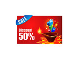 abstract diwali discount gift card