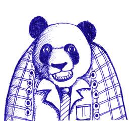 sketch illustration of panda bear