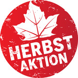 roter stempelbutton herbstaktion
