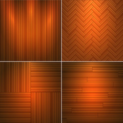 Set of wooden textures