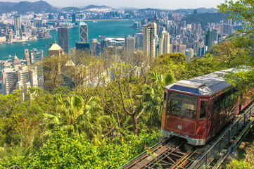 The Peak Tram, Hong Kong.