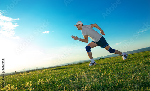 Active man ready for running