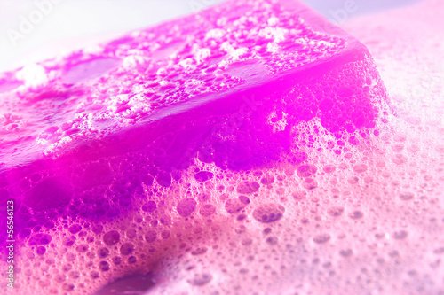 glycerine soap with foam
