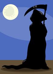 death at night cartoon illustration