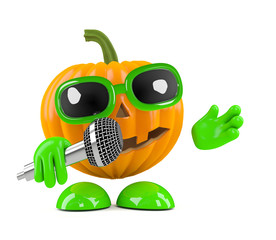 Pumpkin sings the songs that make the whole world scream