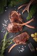 Chops of venison